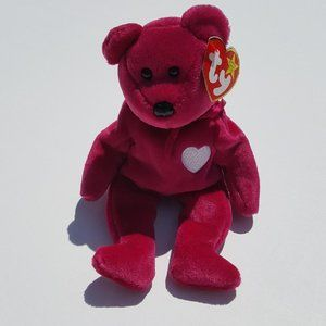 Ty Beanie Babies VALENTINA Bear Retired Valentines